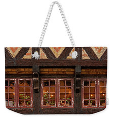 Weekender Tote Bag featuring the photograph Old Windows - 365-275 by Inge Riis McDonald