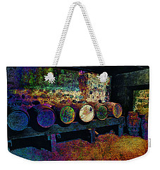 Weekender Tote Bag featuring the digital art Old Wine Barrels by Glenn McCarthy Art and Photography