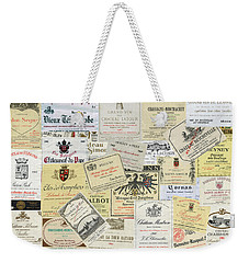 Old Wine Labels Weekender Tote Bag