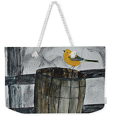Old Wood Barrel Weekender Tote Bag