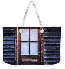 Old Wood Door And Light Weekender Tote Bag by Terry DeLuco