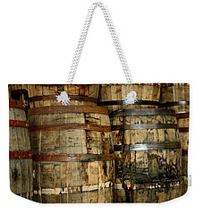Old Wood Whiskey Barrels Weekender Tote Bag