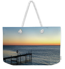 Weekender Tote Bag featuring the photograph Old Wooden Bath Pier by Kennerth and Birgitta Kullman
