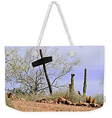 Old Wooden Cross Weekender Tote Bag