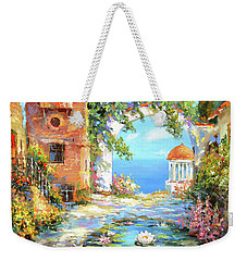 Weekender Tote Bag featuring the painting Old Yard  by Dmitry Spiros