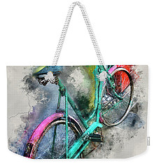 Olde Vintage Bicycle Weekender Tote Bag