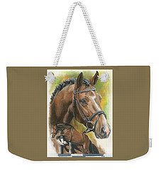 Weekender Tote Bag featuring the painting Oldenberg by Barbara Keith