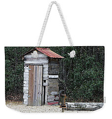 Oldtime Outhouse - Digital Art Weekender Tote Bag