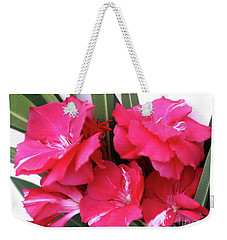 Weekender Tote Bag featuring the photograph Oleander Geant Des Batailles 1 by Wilhelm Hufnagl