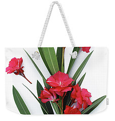 Weekender Tote Bag featuring the photograph Oleander Geant Des Batailles 2 by Wilhelm Hufnagl