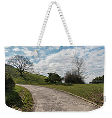 Weekender Tote Bag featuring the photograph Olimpia Park. Munich by Sergey Simanovsky