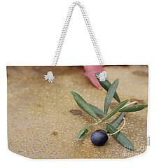 Weekender Tote Bag featuring the photograph Olive by Cindy Garber Iverson
