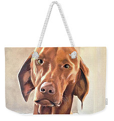 Weekender Tote Bag featuring the painting Oliver by Diane Daigle