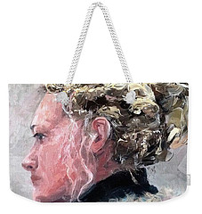 Weekender Tote Bag featuring the painting Olivia 2 by Diane Daigle