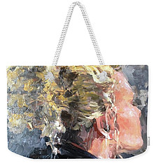 Weekender Tote Bag featuring the painting Olivia by Diane Daigle