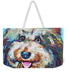 Olivia, The Aussiedoodle Weekender Tote Bag by Robert Phelps