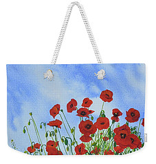 Olivia's Poppies Weekender Tote Bag