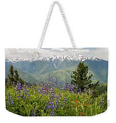 Olympic Mountain Wildflowers Weekender Tote Bag