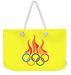 Olympics T-shirt Weekender Tote Bag by Herb Strobino