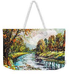 Olza River Weekender Tote Bag