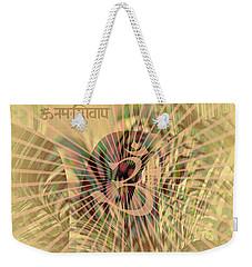 Om Enigma Weekender Tote Bag