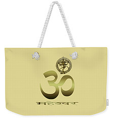 Weekender Tote Bag featuring the photograph Om Shiva by Robert G Kernodle