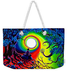 Om Tree Of Life Meditation Weekender Tote Bag by Laura Iverson