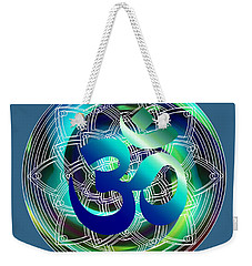 Om Vibration Ocean Weekender Tote Bag by Robert G Kernodle