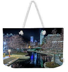 Weekender Tote Bag featuring the photograph Omaha Holiday Lights Festival by Susan Rissi Tregoning