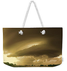 Weekender Tote Bag featuring the digital art Ominous Oklahoma Sky by Shelli Fitzpatrick