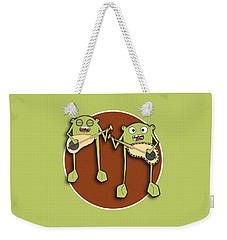 Weekender Tote Bag featuring the drawing Omti And Itmo by Uncle J's Monsters