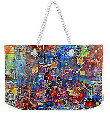 On A Chip Weekender Tote Bag by Regina Valluzzi