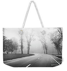 On A Foggy Morning Weekender Tote Bag by Ricky L Jones