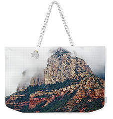 Weekender Tote Bag featuring the photograph On A Misty Day by Phyllis Denton