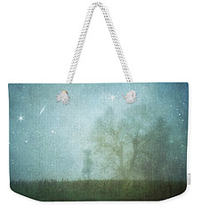 On A Starry Night, A Boy And His Tree Weekender Tote Bag