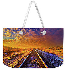 Weekender Tote Bag featuring the photograph On A Train Bound For Nowhere by Phil Koch