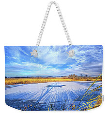 Weekender Tote Bag featuring the photograph On Frozen Pond by Phil Koch