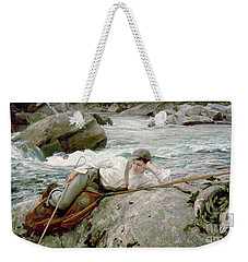 On His Holidays Weekender Tote Bag by John Singer Sargent