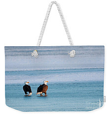 On Ice Weekender Tote Bag