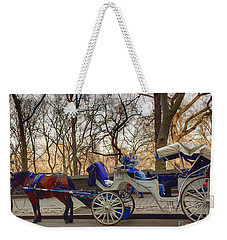 On My Bucket List Central Park Carriage Ride Weekender Tote Bag