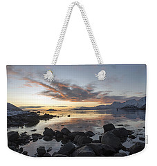 On My Way Through Lofoten 5 Weekender Tote Bag by Dubi Roman