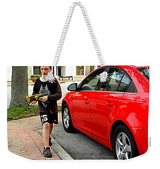 Weekender Tote Bag featuring the photograph On Patrol by Chris Mercer