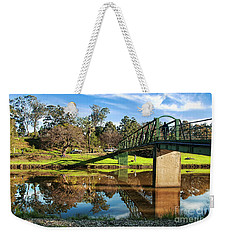 Weekender Tote Bag featuring the photograph On The Banks Of The River By Kaye Menner by Kaye Menner