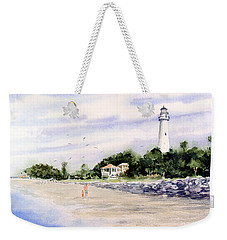 On The Beach At St. Simon's Island Weekender Tote Bag