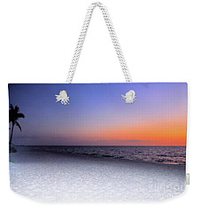 On The Beach At Sunset Weekender Tote Bag