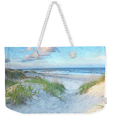 On The Beach Watercolor Weekender Tote Bag