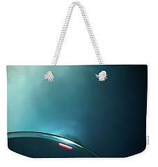 On The Bubble Abstract Weekender Tote Bag by James Aiken
