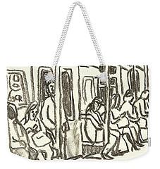 On The C Train, Nyc Weekender Tote Bag