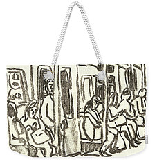 On The C Train, Nyc Weekender Tote Bag