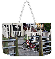 Weekender Tote Bag featuring the photograph On The Dock by Linda Brown